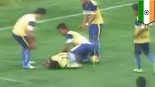 Repeat youtube video Goal celebration death: Indian soccer player dies after breaking his neck