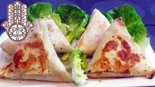 Tortilla façon brick au poulet et champignons