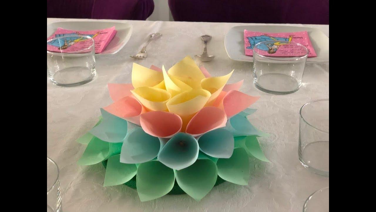 Diy como hacer un centro de mesa para fiestas infantiles - Mesa cumpleanos adulto ...