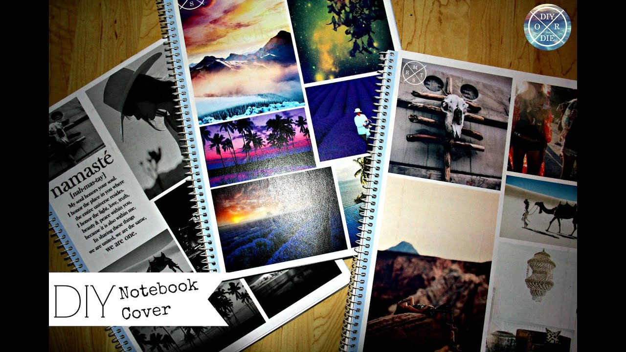 Book Cover Collage You Tube ~ Diy notebook cover inspirational collages youtube