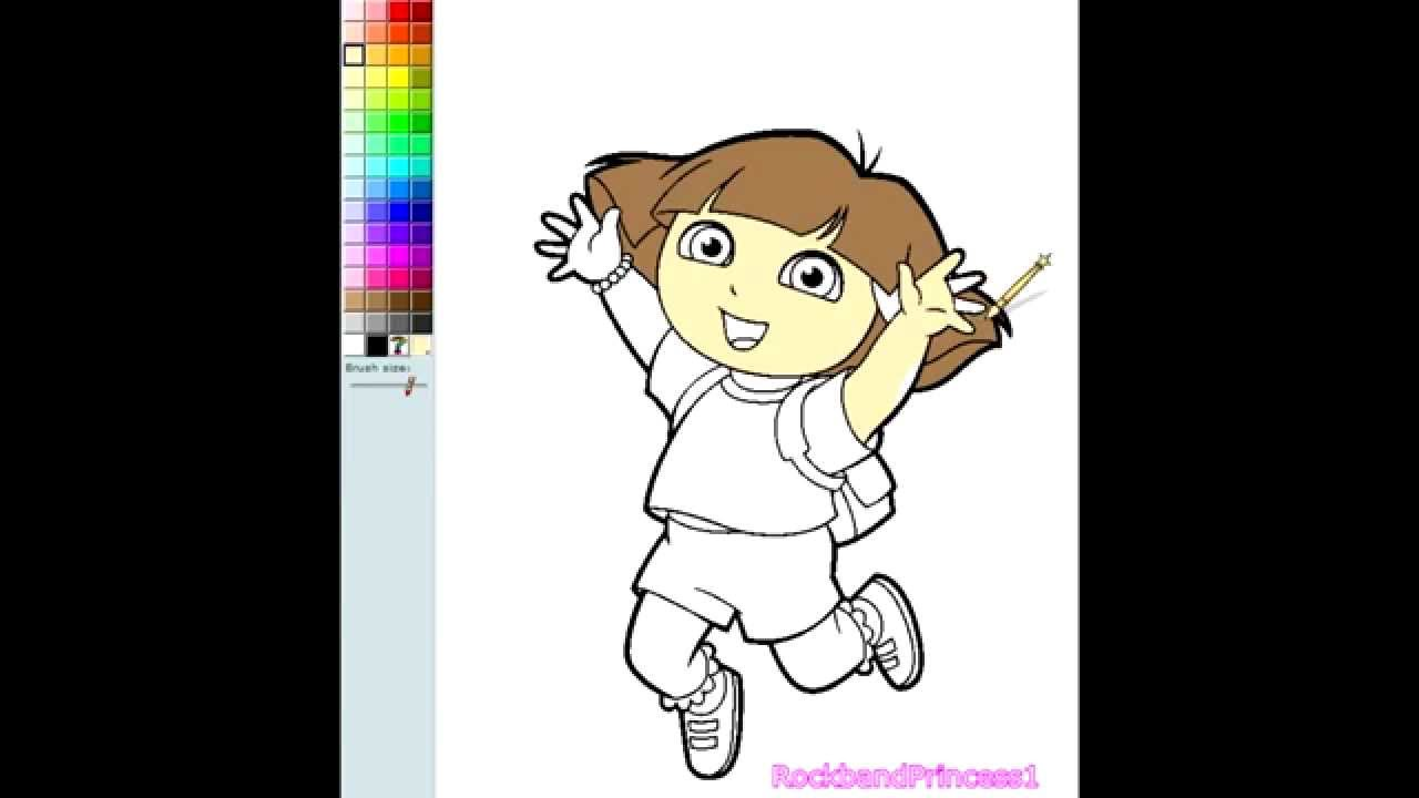 Online coloring dora the explorer - Dora The Explorer Online Coloring Dora Video Game