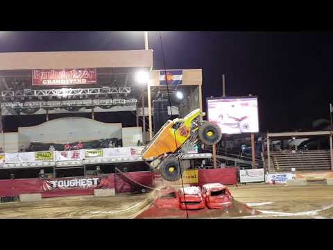 Toughest Monster Truck Tour Dirtcrew Freestyle Run at the Colorado State Fair. August, 31, 2018