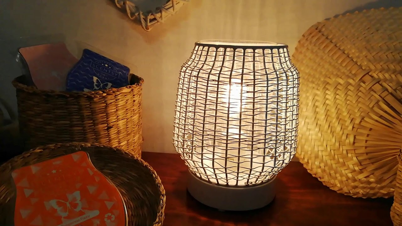 Scentsy Warmer UK Wicker White Wax Warmer Review (2019 scentsy catalogue  for uk & Ireland) - YouTube