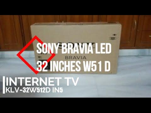 sony bravia klv 32w512d 32 inch led tv unboxing 2018 hd. Black Bedroom Furniture Sets. Home Design Ideas