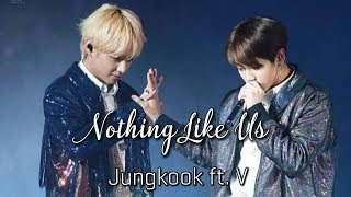 Gambar cover [MV] BTS Jungkook ft. V - Nothing Like Us Cover W/Lyrics | taekook/vkook ver.