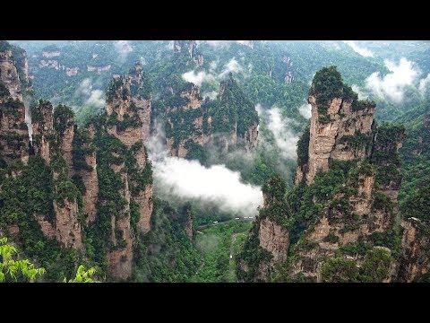"""""""Avatar"""" Mountain & Wulingyuan Scenic Area, Zhangjiajie, China in 4K Ultra HD thumbnail"""