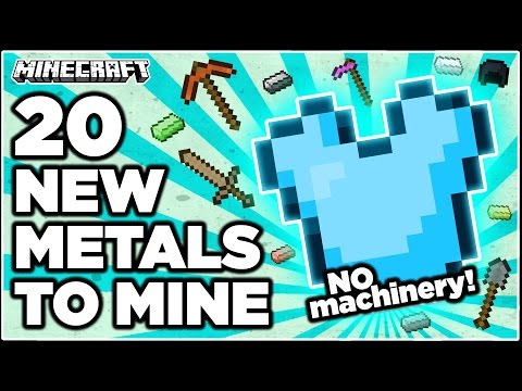 Minecraft: New ores and alloys