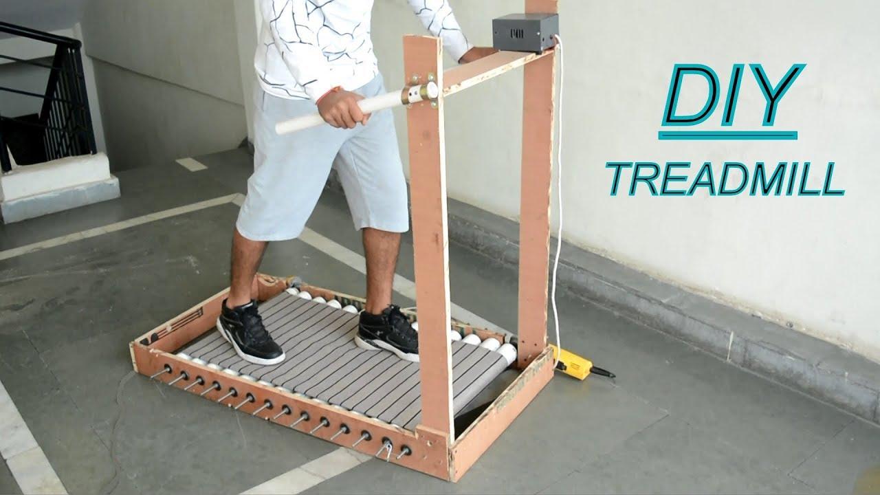How to Make Treadmill at Home  Running Machine  YouTube