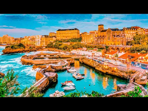 A Walk Around The Beautiful City of Biarritz, France