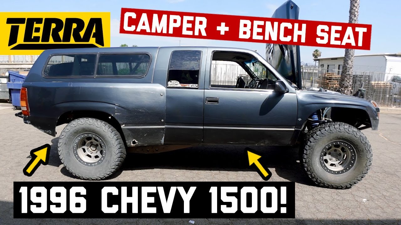 1996 Chevy 1500 w/ Camper + 2nd Row of Seats!? SO GOOD! | BUILT TO DESTROY