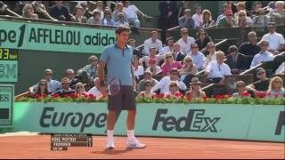 French Open Men's Semi Final 2009   Juan Martin del Potro vs Roger Federer