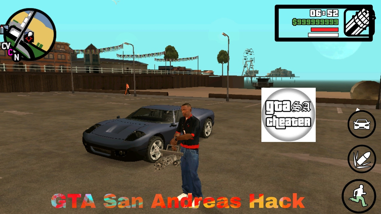 GTA San Andreas 1.08 Hack +Download |Apk and Obb + GTA SA Cheater Hack  #Smartphone #Android