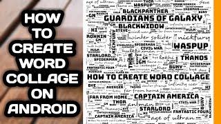 كيفية إنشاء كلمة الكولاج l كيفية جعل كلمة سحابة l التكنولوجيا النقالة التاميل