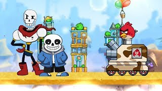 vuclip Undertale Sans & Papyrus VS Angry Birds Tank for MUGEN 地域傳說Sans和Papyrus大戰憤怒鳥戰車 無限格鬥版
