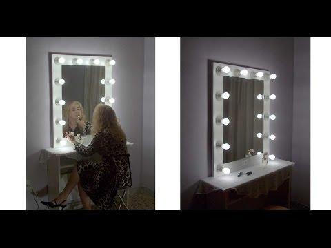 Espejos de camerino se sentir como una estrella en su camerino con este espejo luzdeestrellas - Espejo con bombillas ikea ...