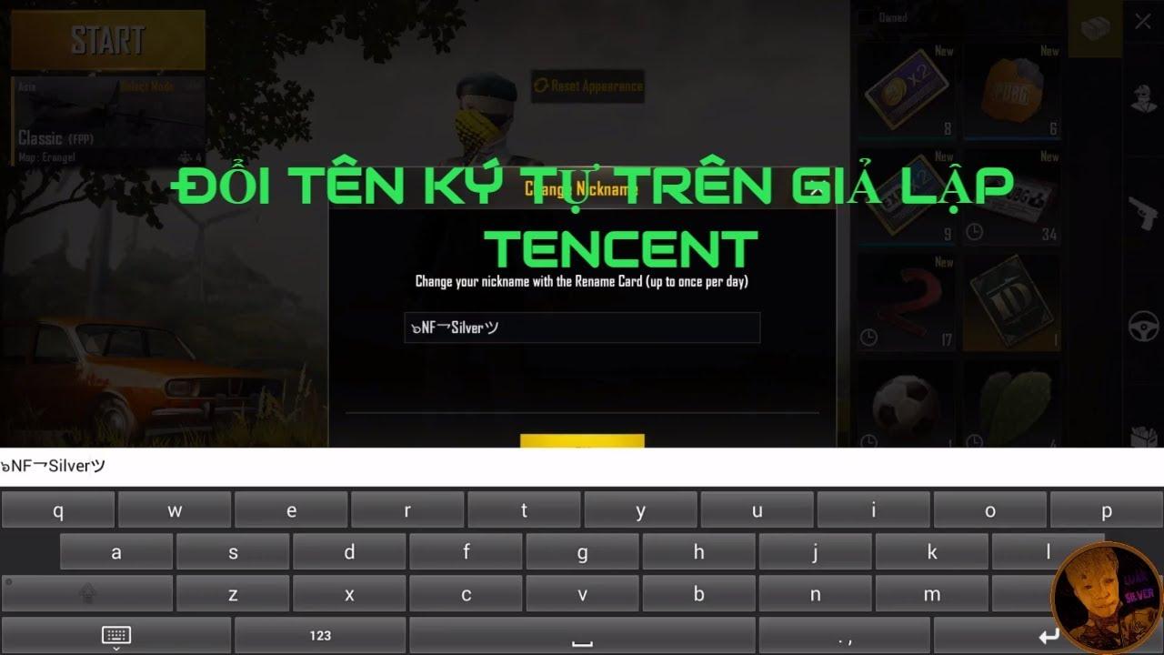 PUBG MOBILE Hướng Dẫn Đổi Tên Ký Tự Trên Giả Lập Tencent