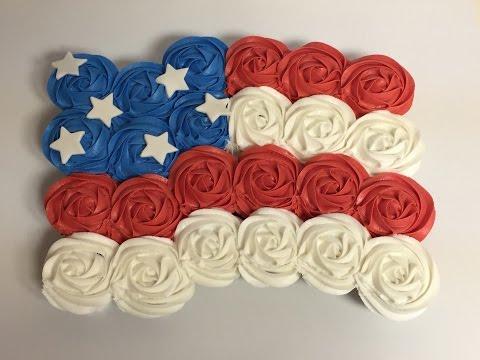 Fourth Of July Cupcake Cake