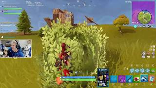 CAMPS NINJA IN A BUSH TO GET VICTORY ROYALE!!? - Fortnite Bataille Royale