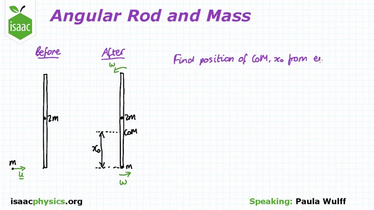 angular rod and mass part a angular motion level 6 youtube