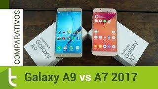 Está em dúvida entre o Galaxy A9 e o A7 2017? Veja quais são as dif...