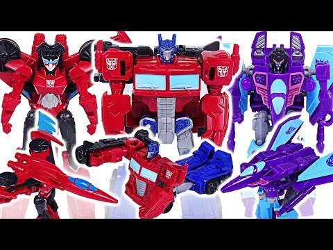 Transformers Cyberverse scout class Optimus Prime, Windblade VS Slipstream, Megatron! #DuDuPopTOY