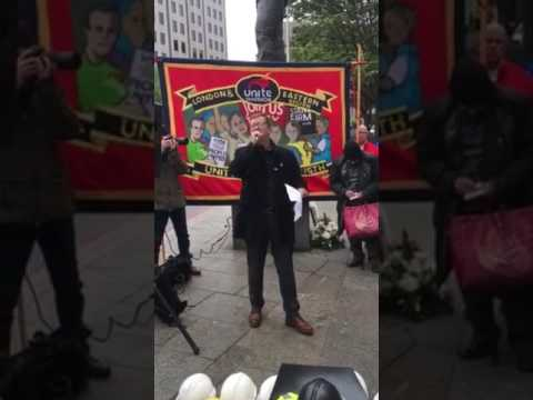 Peter Kavanagh - Unite the Union Speech at Workers memorial Day