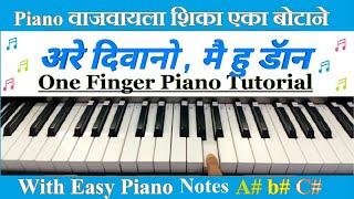 main hu don are diwano easy piano songs notes easy
