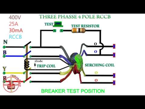 how to work rccb rcb working function rcb circuit diagram rccb working function three phase rccb 4 pole rccb working function 4 pole