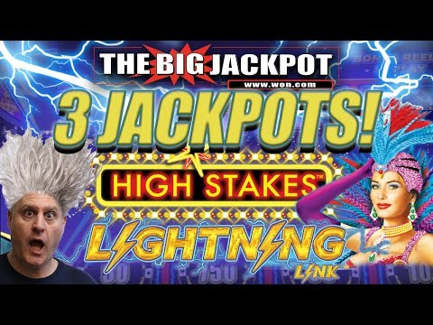 ⚡LIGHTNING LINK HIGH STAKES! 🔗3 JACKPOTS on RAJA