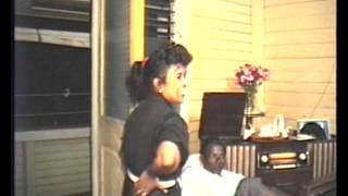 Jon dancing to Indian song in Guyana in 1991 at age 26
