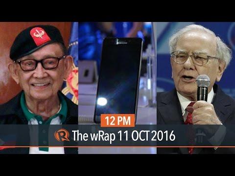 Fidel Ramos, Warren Buffett, Samsung Galaxy Note 7 | 12PM wRap