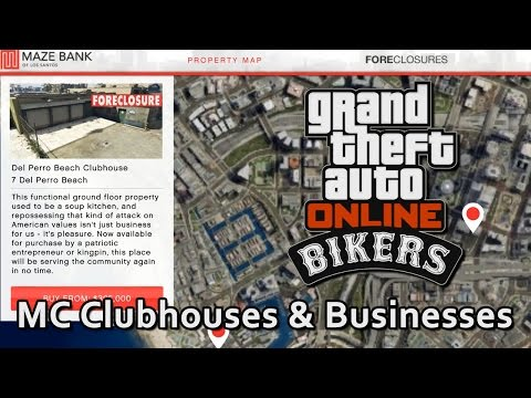 Buying MC Clubhouses & Business Bikers DLC GTA Online