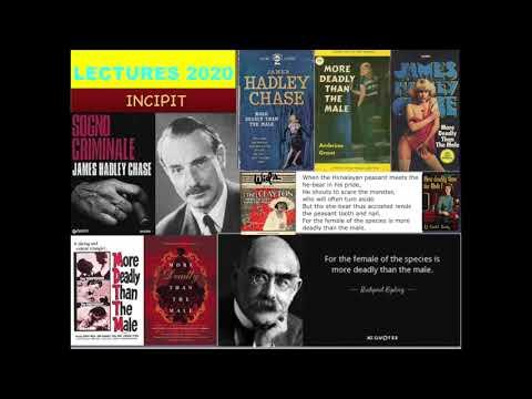 LECTURES 2020-INCIPIT:SOGNO CRIMINALE Di James Hadley Chase (1946)