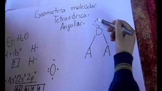 geometria molecular   piramidal trigonal y tetraedica angular