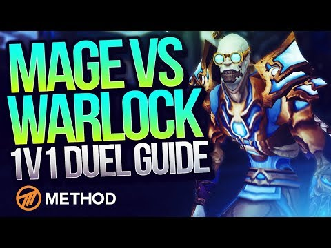 MAGE VS WARLOCK (8.1 DUEL GUIDE) with Xaryu   Method