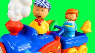 Caillou And Rosie Go For A Ride On The Learning Train And Make Play-Doh Ice Cream