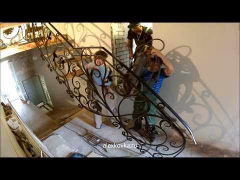 Кованая лестница без косоура. Часть 6