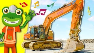 Excavator Song With Gecko | Diggers For Children | Gecko's Real Vehicles