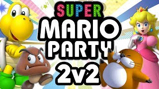 Super Mario Party - Team Married vs Team Fusion (2v2 Duos Gameplay)