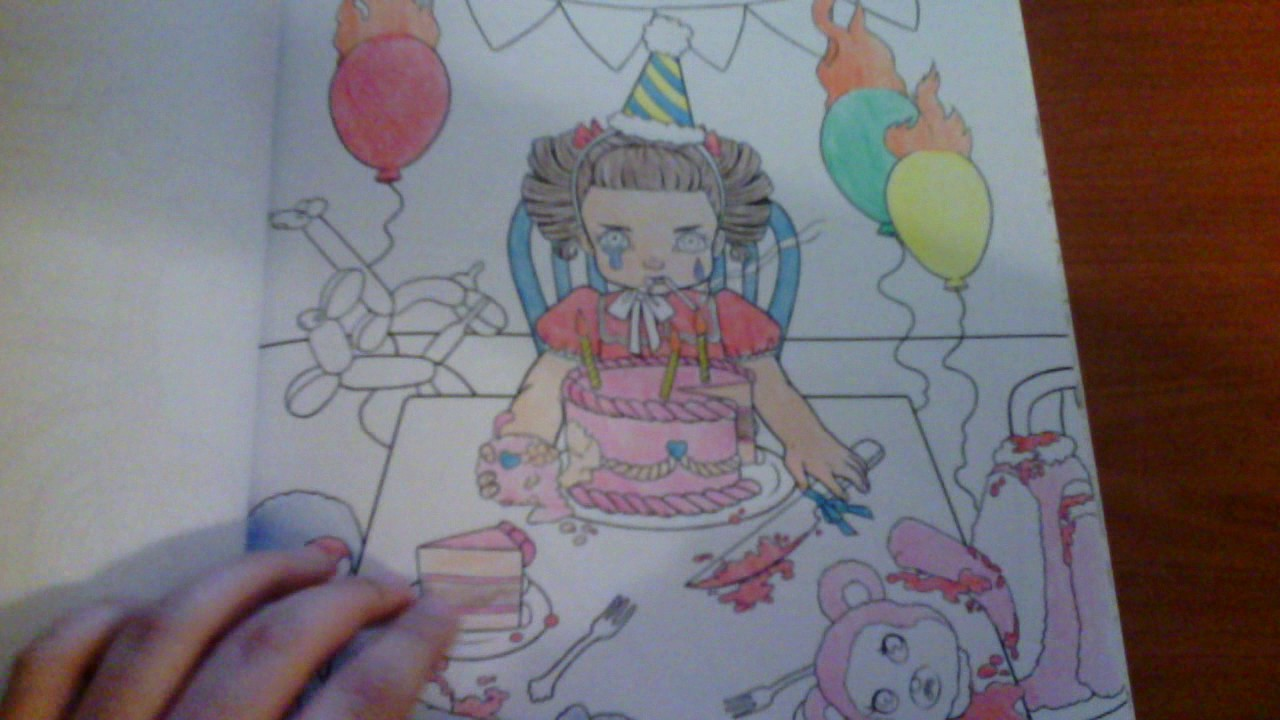 Melanie Martinez CRY BABY Coloring Book Finished YouTube