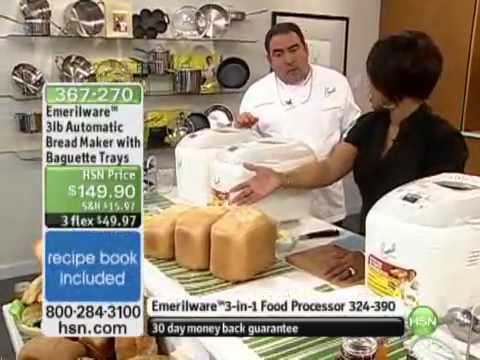 Emerilware 3lb Automatic Bread Maker With Baguette Top 10 Best Bread Machine Reviews Youtube