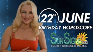 Birthday June 22nd Horoscope Personality Zodiac Sign Cancer Astrology