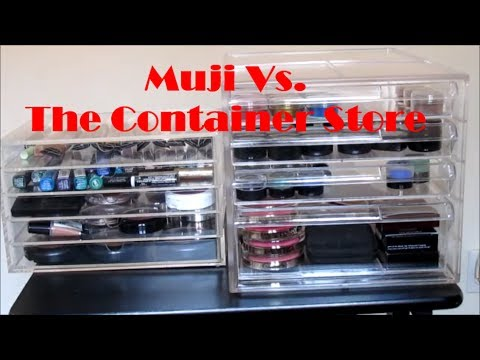 Muji VS The Container Store Organization Ideas YouTube - Container store makeup organizer