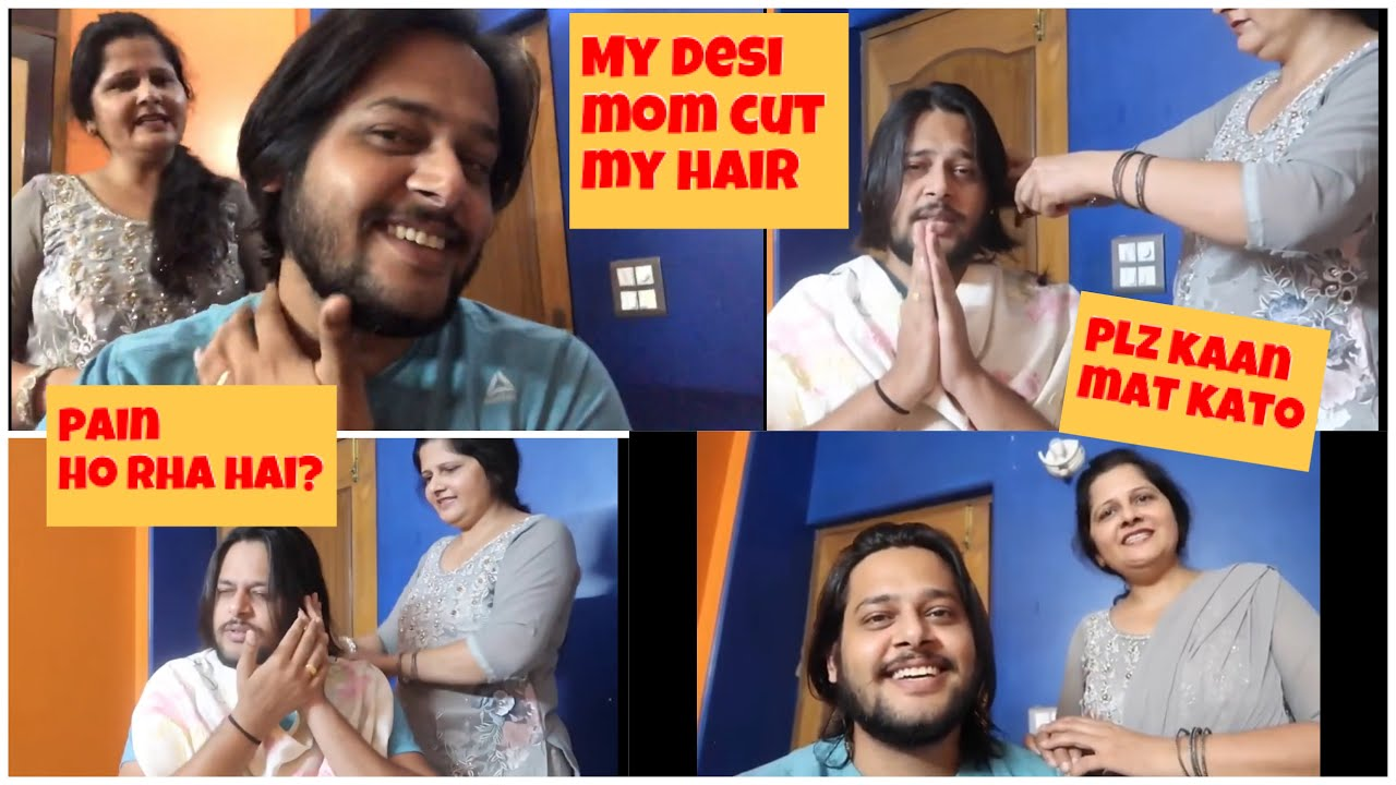 My  mom cut  My hair 💇‍♂️ at home || masatuber