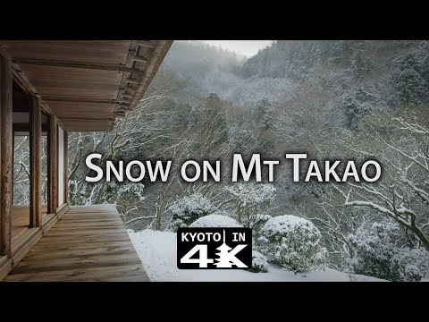 Beautiful Kyoto: Snow Day in Mt. Takao [4K]