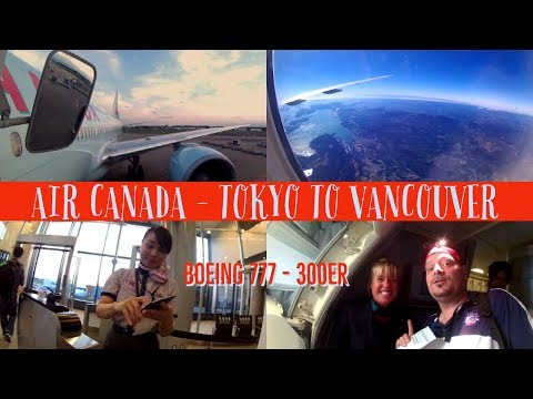 Air Canada - Tokyo To Vancouver Boeing 777-300ER 3 Class {economy Section}