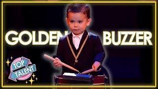 GOLDEN BUZZER | AMAZING Baby Drummer Audition On Spain's Got Talent 2019! | Top Talent