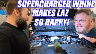 FIRST START-UP Laz's SUPERCHARGER IS ON! Tripling The HP 210k mi SILVERADO!