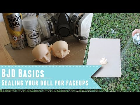 BJD Basics: Sealing your doll for faceups or repaints