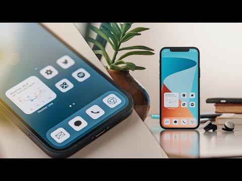 Home Screen Setup Tutorial! (iPhone 12 // iOS 14)